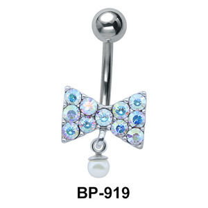Bow with Stones Belly Piercing BP-919