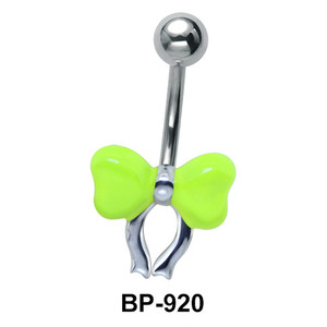 Bow Shaped Fluorescent Belly Piercing BP-920