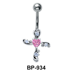 Cross Belly Piercing BP-934
