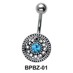 Glamorous Designer Belly Piercing BPBZ-01