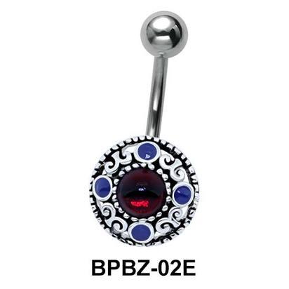 Traditional Designer Stony Belly Piercing BPBZ-02E