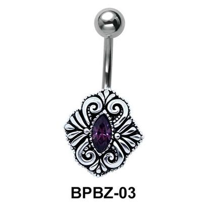 Intricate Designer Belly Button Ring BPBZ-03