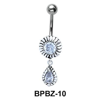 Blazing Stony Sun Belly Piercing BPBZ-10