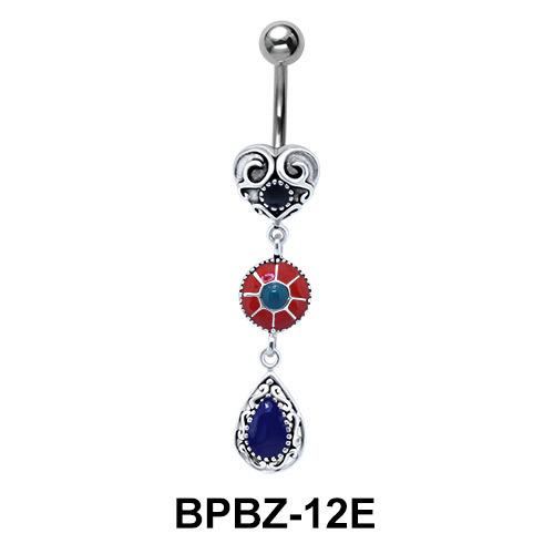Multiple Design Stone Belly Piercing BPBZ-12E