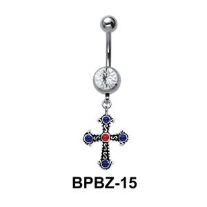 Glamorous Designer Belly Piercing BPBZ-15