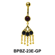 Pink Chandelier Stone Encrusted Belly Piercing BPBZ-23E