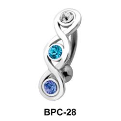 Braided Design Upper Belly Piercing BPC-28