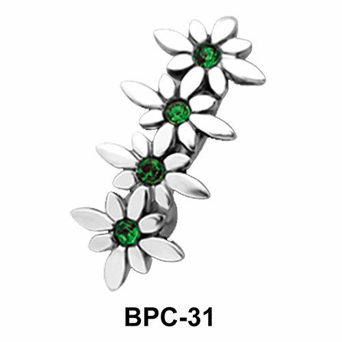 Floral Upper Belly Piercing BPC-31