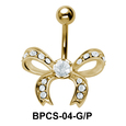 Stone Encrusted Bow Belly Classic Stone BPCS-04