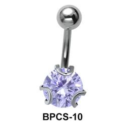 The Fascinating Purple Stone Belly Piercing BPCS-10