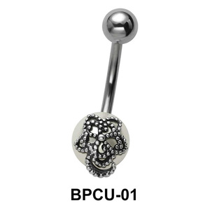 Belly Pearl with Flower Motive BPCU-01
