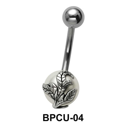 Belly Pearl with Leaves Motif BPCU-04