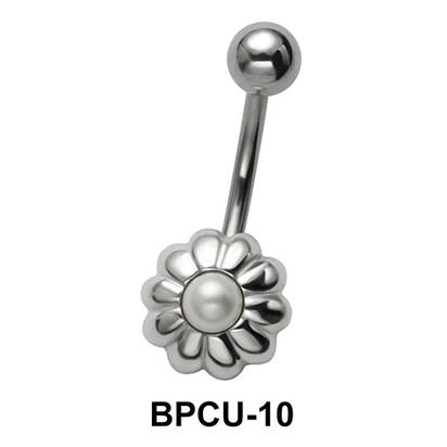 Floral Belly Pearl Piercing BPCU-10