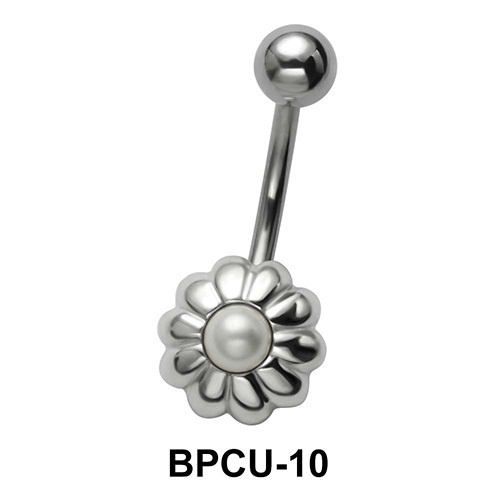 Floral Belly Pearl Piercing BPCU-10