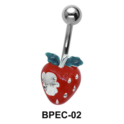 strawberry in Red Belly Piercing BPEC-02
