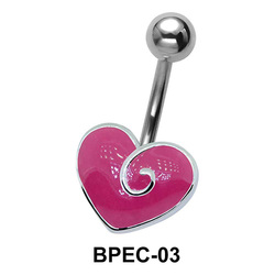 Enameled Heart Belly Piercing BPEC-03
