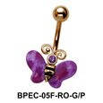 Stone Set Butterfly Belly Piercing BPEC-05F