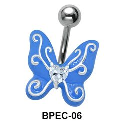 Enamel Butterfly Belly Piercing BPEC-06