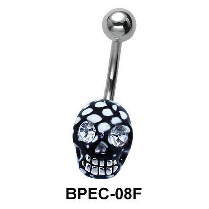 Enamel Skull Belly Piercing BPEC-08F