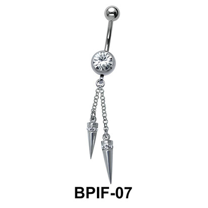 Belly Icicle Piercing BPIF-07
