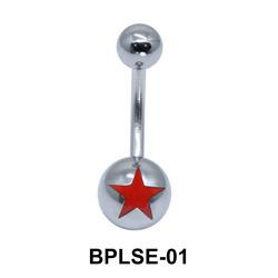 Star Enamel Belly Piercing BPLSE-01