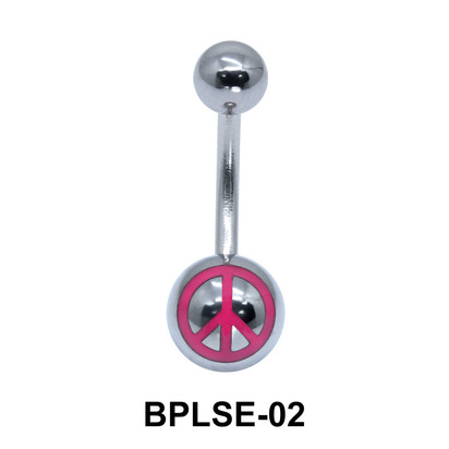 Peace Enamel Belly Piercing BPLSE-02