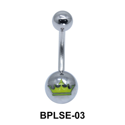 Crown Enamel Belly Piercing BPLSE-03