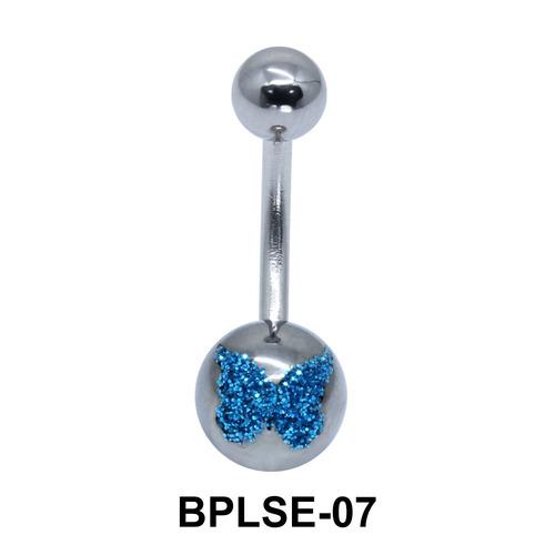 Butterfly Enamel Belly Piercing BPLSE-07