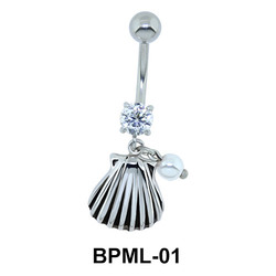 Cool Seashell Shaped Belly Piercing BPML-01