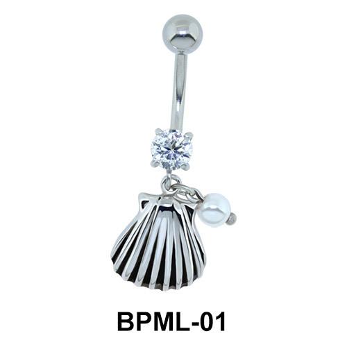 Cool Seashell Shaped Belly Piercing BPML-01