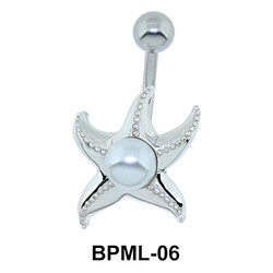 Jelly Fish Pearl Underwater Belly Piercing BPML-06