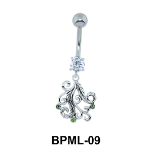 Intricately Designed Underwater Belly Button Ring BPML-09