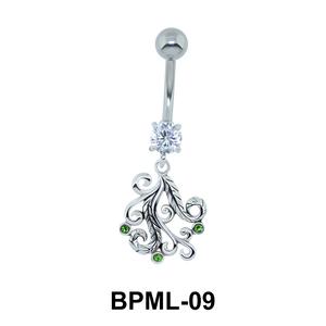 Intricately Designed Underwater Belly Button Ring BPML-09