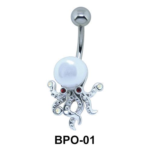 Pearly Octopus Belly Piercing BPO-01