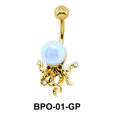 Pearly Flower Belly Piercing BMOP-03