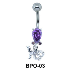 Pear Shaped Octopus Belly Piercing BPO-03