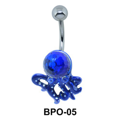 Oceanic Octopus Belly Button Ring BPO-05