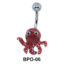 Red Octopus Exceptional Belly Piercing BPO-06E