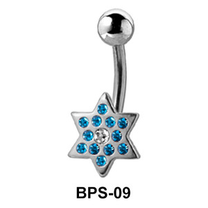 Star Shaped Belly Piercing BPS-09