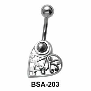 Alluring Belly Piercing Design BSA-203
