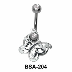 Butterfly Belly Piercing Design BSA-204