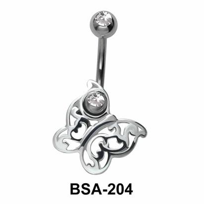 Butterfly Belly Piercing Design BSA-204