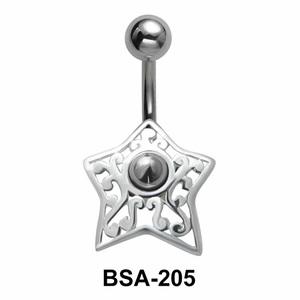 Star Filigree Belly Piercing Design BSA-205