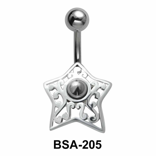 Star Filigree Belly Piercing Design BSA-205