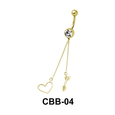 Heart and Arrow Shaped Belly Piercing CBB-04