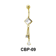 Diamond Belly Piercing CBP-09