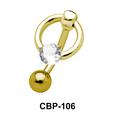 Stone Set Circular Belly Piercing CBP-106