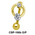 Stone Studded Circular Belly Piercing CBP-106b