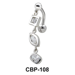 Multi Stone Belly Piercing CBP-108