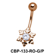 Floral Belly Piercing CBP-133